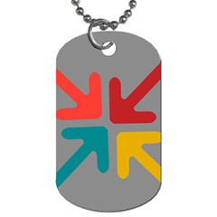 Arrows Center Inside Middle Dog Tag (two Sides)