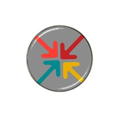 Arrows Center Inside Middle Hat Clip Ball Marker (4 Pack)