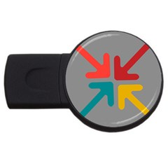 Arrows Center Inside Middle Usb Flash Drive Round (4 Gb)