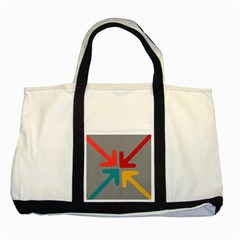 Arrows Center Inside Middle Two Tone Tote Bag