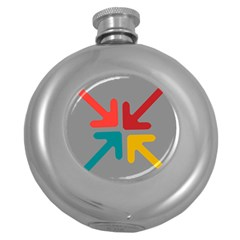 Arrows Center Inside Middle Round Hip Flask (5 Oz)