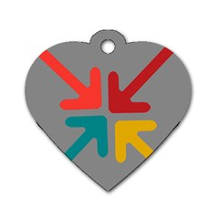 Arrows Center Inside Middle Dog Tag Heart (Two Sides)