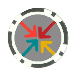 Arrows Center Inside Middle Poker Chip Card Guard (10 Pack)