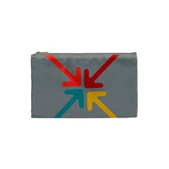 Arrows Center Inside Middle Cosmetic Bag (small)