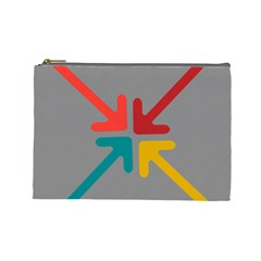 Arrows Center Inside Middle Cosmetic Bag (Large)