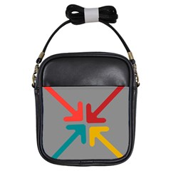 Arrows Center Inside Middle Girls Sling Bags