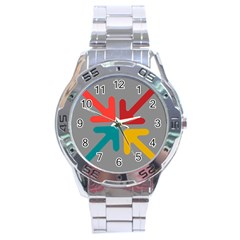 Arrows Center Inside Middle Stainless Steel Analogue Watch