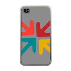 Arrows Center Inside Middle Apple Iphone 4 Case (clear)