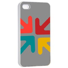 Arrows Center Inside Middle Apple iPhone 4/4s Seamless Case (White)