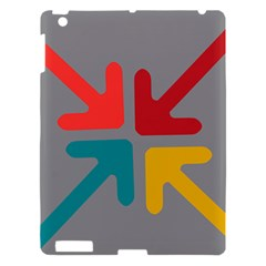Arrows Center Inside Middle Apple Ipad 3/4 Hardshell Case