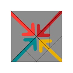 Arrows Center Inside Middle Acrylic Tangram Puzzle (4  X 4 )