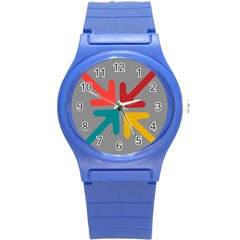 Arrows Center Inside Middle Round Plastic Sport Watch (s)