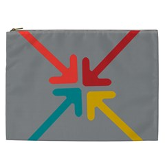 Arrows Center Inside Middle Cosmetic Bag (xxl)