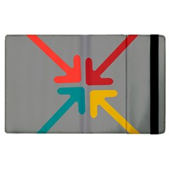 Arrows Center Inside Middle Apple Ipad 2 Flip Case