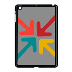Arrows Center Inside Middle Apple iPad Mini Case (Black)