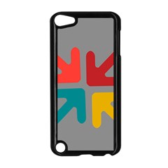 Arrows Center Inside Middle Apple Ipod Touch 5 Case (black)