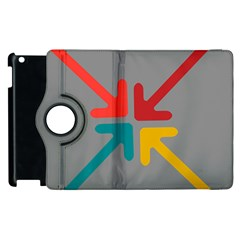 Arrows Center Inside Middle Apple Ipad 2 Flip 360 Case