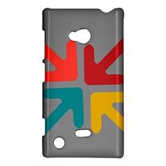 Arrows Center Inside Middle Nokia Lumia 720