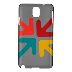 Arrows Center Inside Middle Samsung Galaxy Note 3 N9005 Hardshell Case