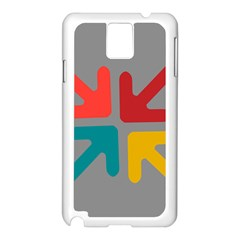 Arrows Center Inside Middle Samsung Galaxy Note 3 N9005 Case (White)