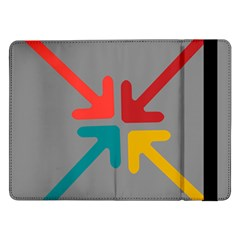 Arrows Center Inside Middle Samsung Galaxy Tab Pro 12 2  Flip Case