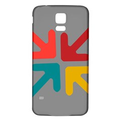 Arrows Center Inside Middle Samsung Galaxy S5 Back Case (white)