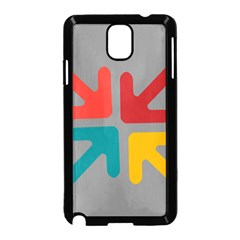 Arrows Center Inside Middle Samsung Galaxy Note 3 Neo Hardshell Case (black)