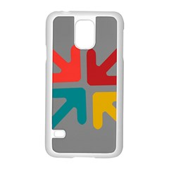 Arrows Center Inside Middle Samsung Galaxy S5 Case (white)
