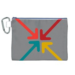 Arrows Center Inside Middle Canvas Cosmetic Bag (xl)
