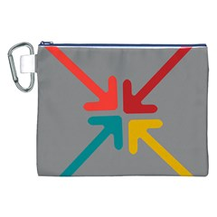 Arrows Center Inside Middle Canvas Cosmetic Bag (xxl)