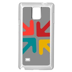 Arrows Center Inside Middle Samsung Galaxy Note 4 Case (white)