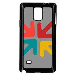 Arrows Center Inside Middle Samsung Galaxy Note 4 Case (black)