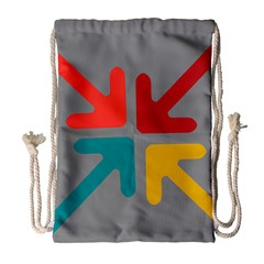 Arrows Center Inside Middle Drawstring Bag (Large)
