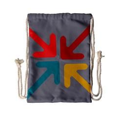Arrows Center Inside Middle Drawstring Bag (small)