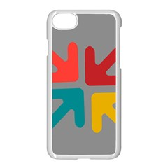 Arrows Center Inside Middle Apple Iphone 7 Seamless Case (white)