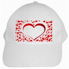 Love Red Hearth White Cap