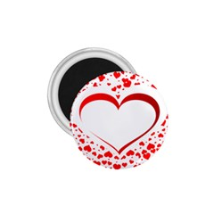 Love Red Hearth 1.75  Magnets