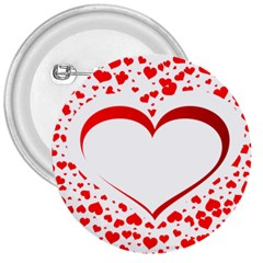 Love Red Hearth 3  Buttons