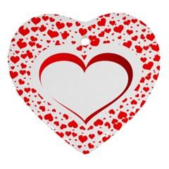 Love Red Hearth Ornament (Heart)