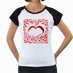 Love Red Hearth Women s Cap Sleeve T