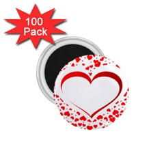 Love Red Hearth 1.75  Magnets (100 pack)