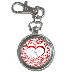 Love Red Hearth Key Chain Watches