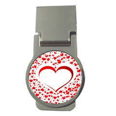 Love Red Hearth Money Clips (round)