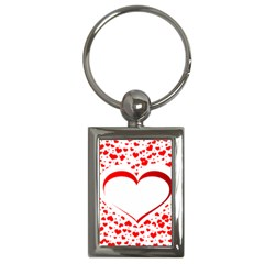 Love Red Hearth Key Chains (rectangle)