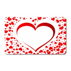 Love Red Hearth Magnet (Rectangular)
