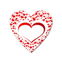 Love Red Hearth Heart Magnet
