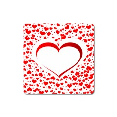 Love Red Hearth Square Magnet