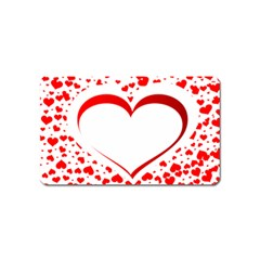Love Red Hearth Magnet (name Card)