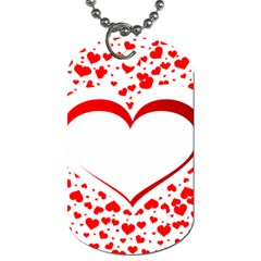 Love Red Hearth Dog Tag (One Side)
