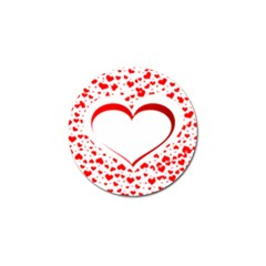 Love Red Hearth Golf Ball Marker